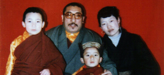 The 17th Karmapa with his family