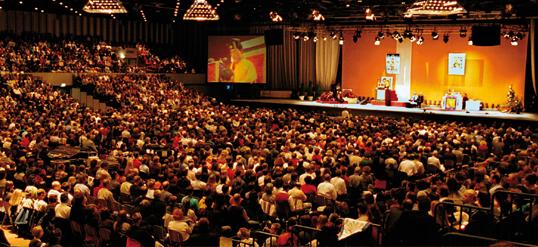 The 17th Karmapa in Dusseldorf in 2000